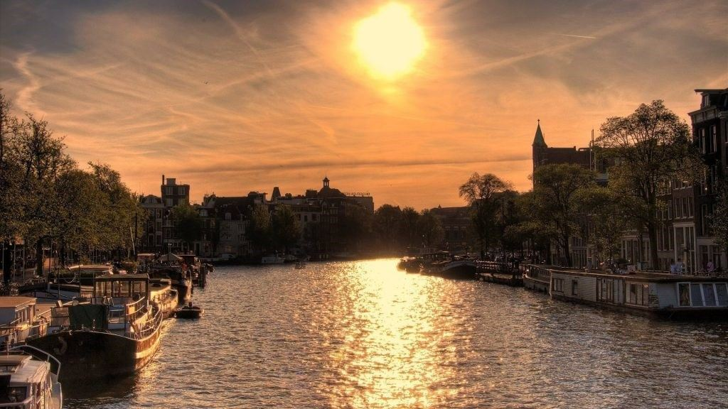 Amsterdam-Sunset-Wallpaper