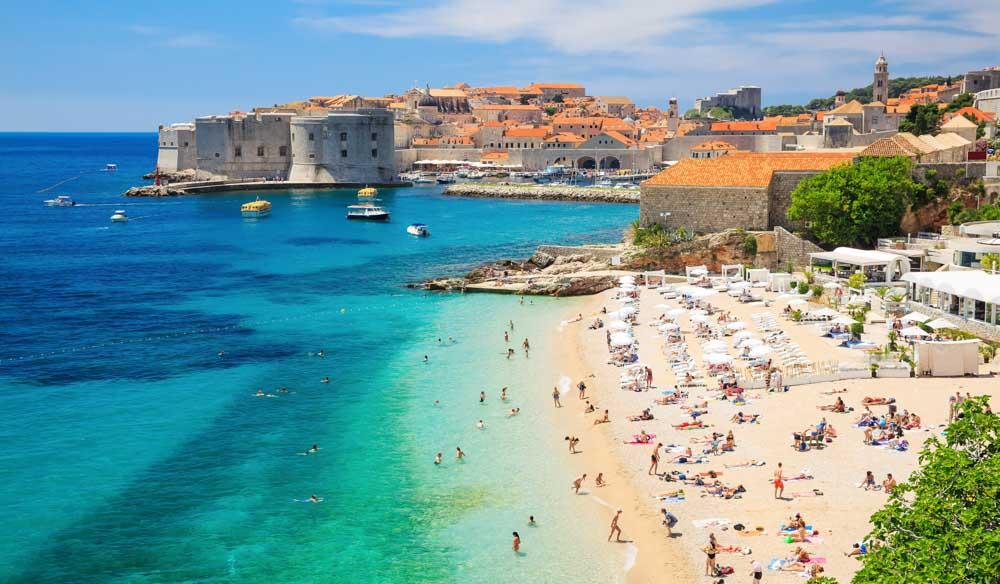 Plaja Banje, Dubrovnik, Croatia
