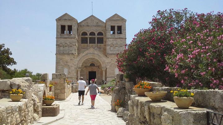 "Biserica''Schmbarea la Fata"", Muntele Tabor, circuit-excursie-pelerinaj Israel"