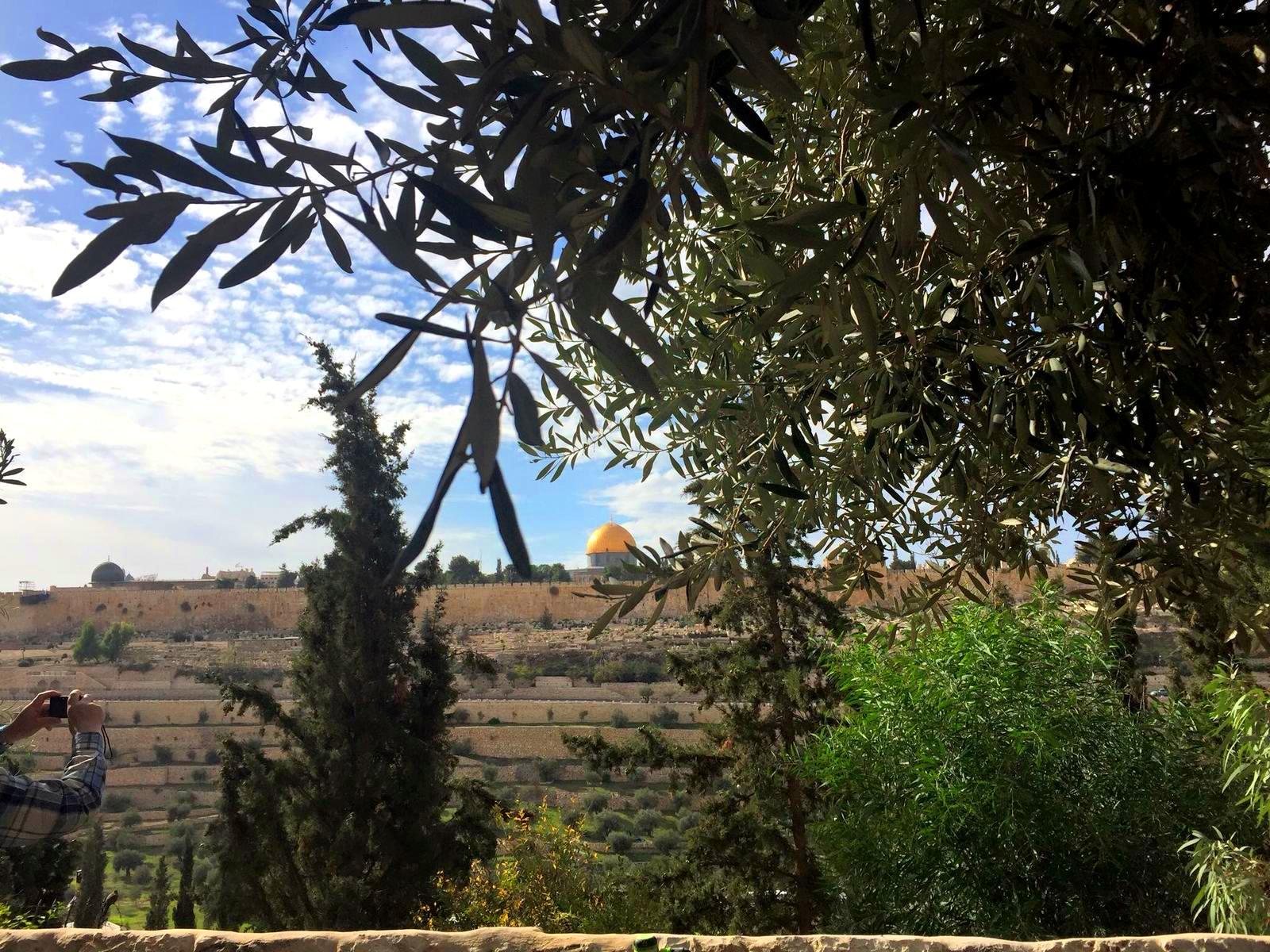 vedere spre Ierusalim, pelerinaj în Israel