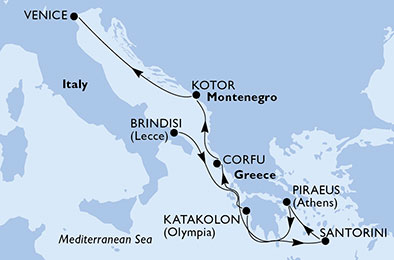 Croaziere MSC 2019 itinerarii