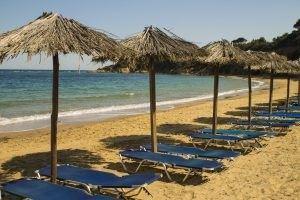Plaja Mandraki, Skiathos, Grecia