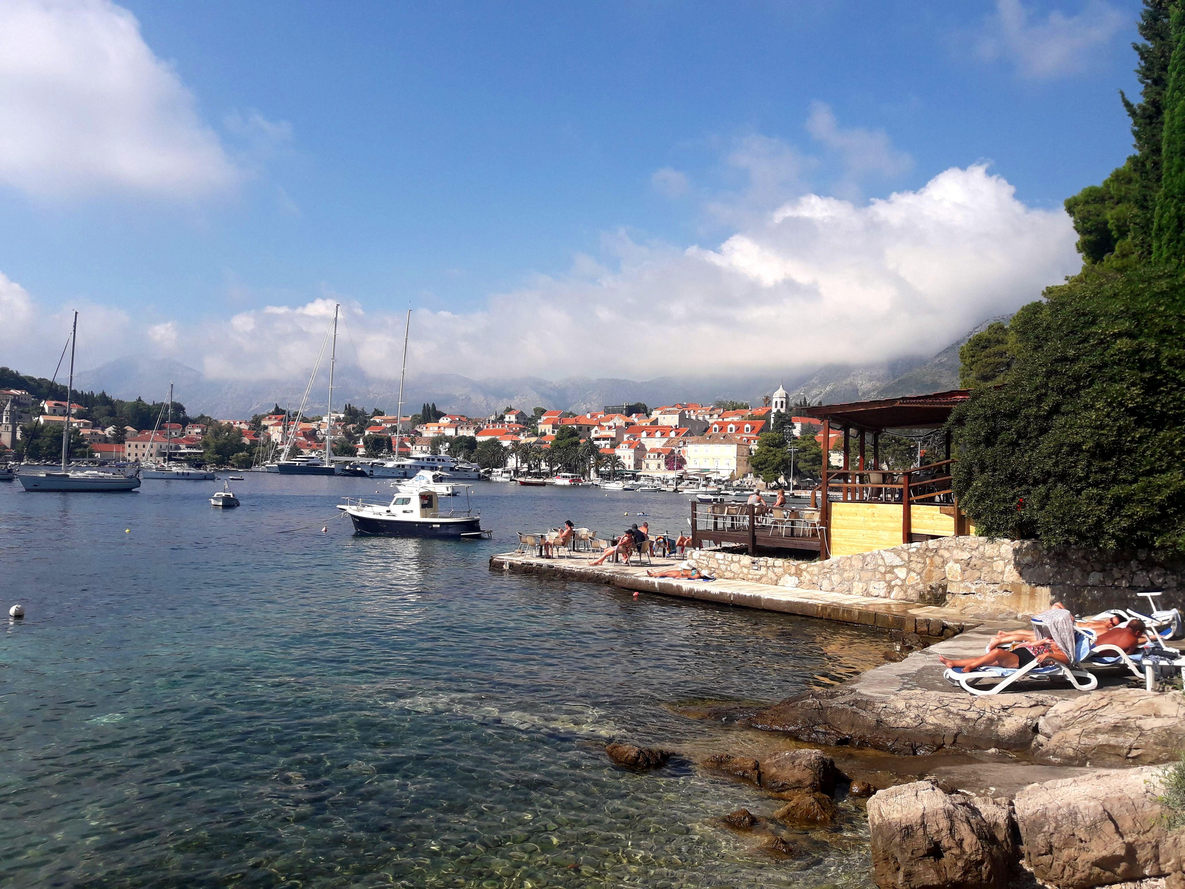 Plajă din Cavtat, Croația