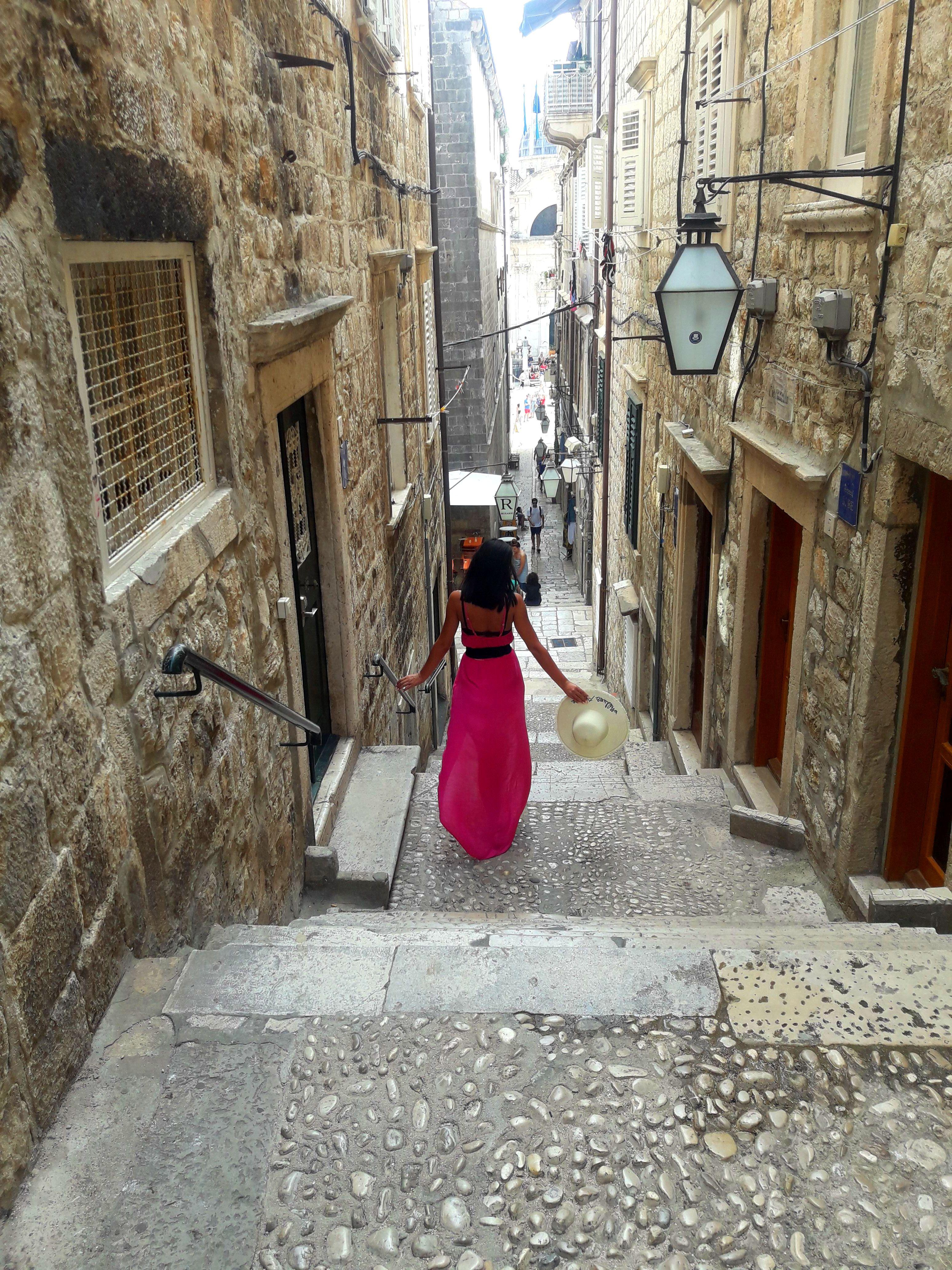 străduțe înguste din Dubrovnik, Croatia