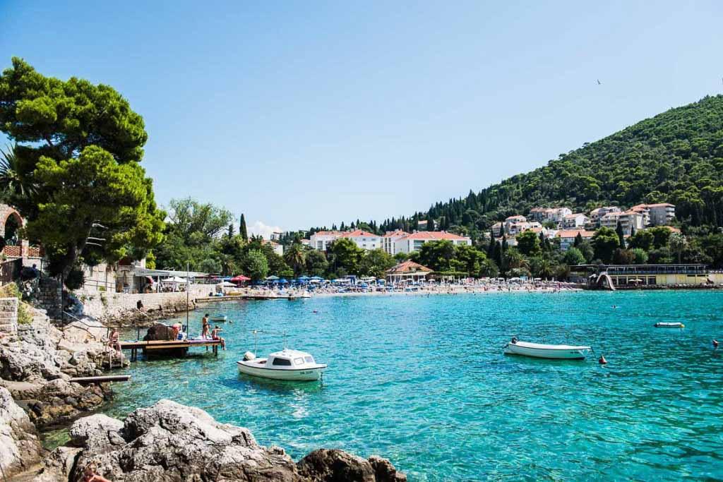 Plaja Lapad, Dubrovnik, Croatia
