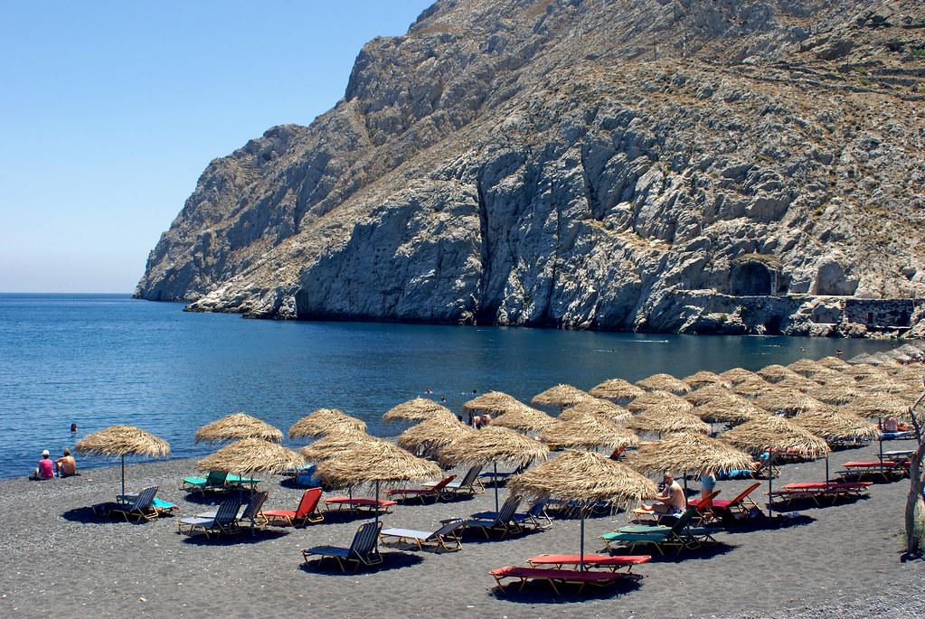 plajă din Santorini, Grecia