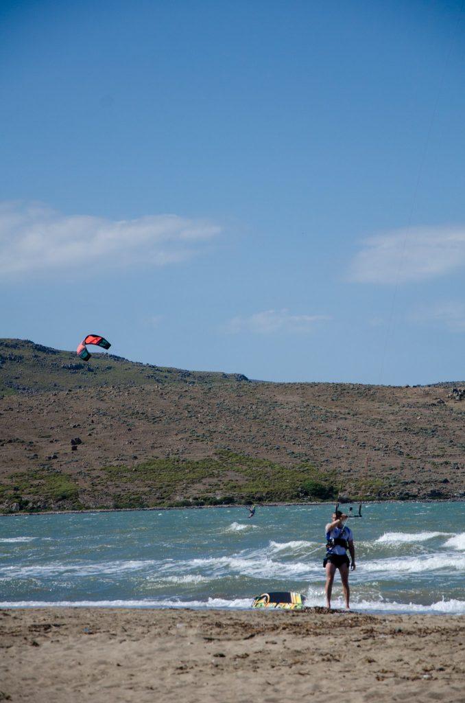 kitesurfing în Gokceada, Turcia