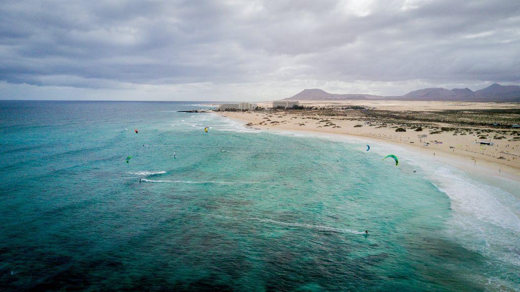 vacanță la kiteboarding în Fuerteventura