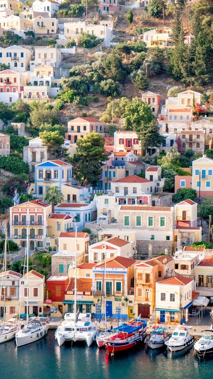 Insula Symi, regiunea Rodos, Grecia, foto @pinterest.com